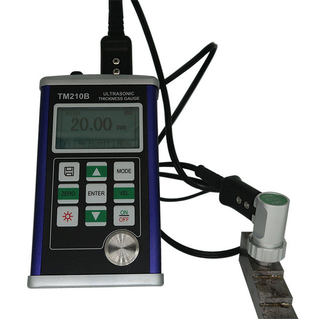 128×64 Lcd Ultrasonic Thickness Gauge / Metal Thickness Testing Equipment