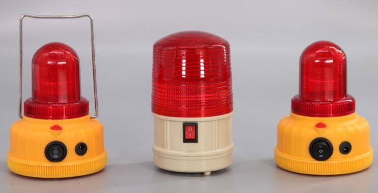 Red Zone Danger Area Warning Light Battery Type Area Warning Lamp 120 x 163mm